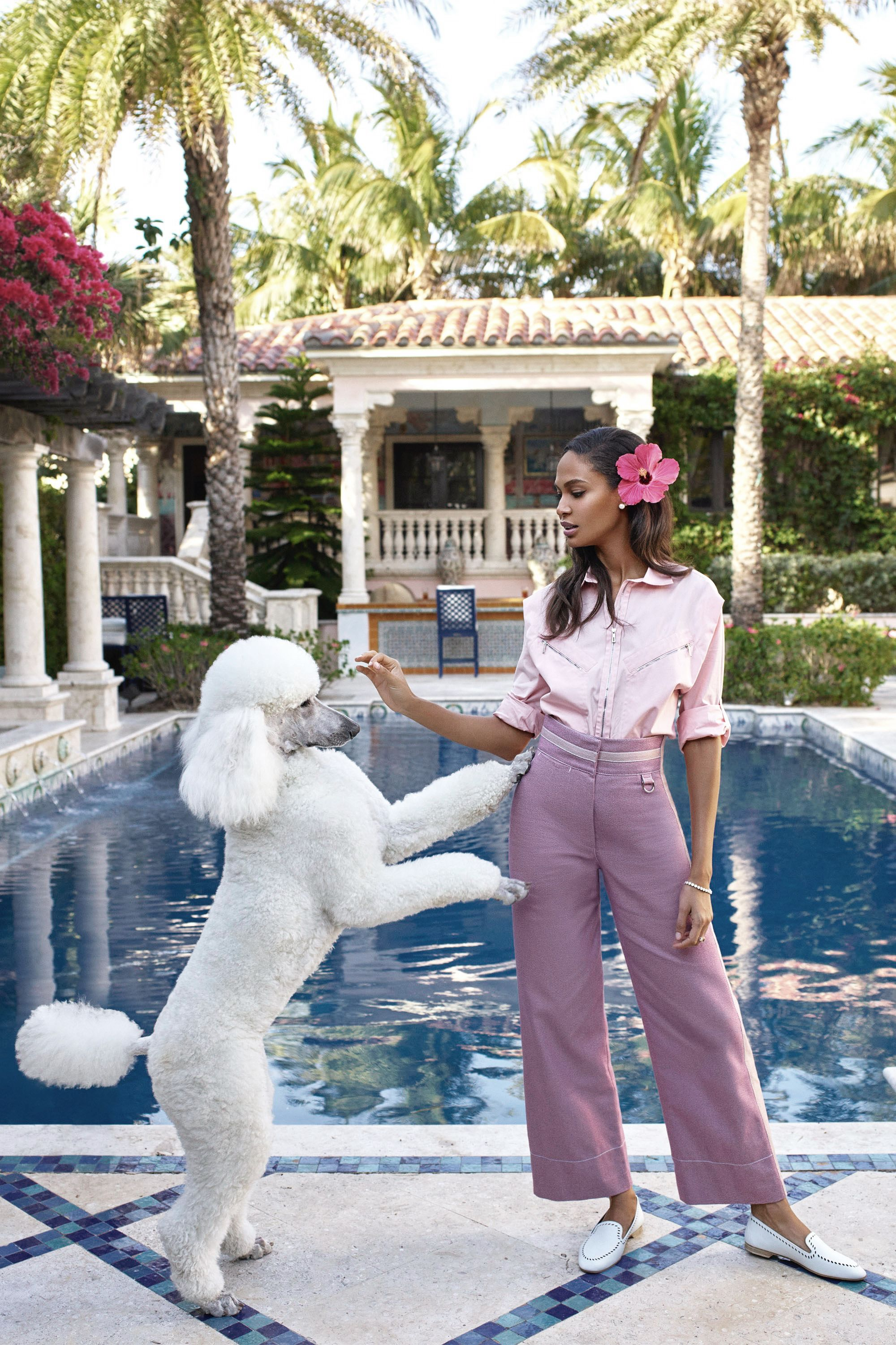 lowest price f3277 6109c By Victoria Berezhna   Fashion Editorial  Joan Smalls by Mariano Vivanco  for Harper s Bazaar May US 2017 - a Slim Aarons inspired shoot