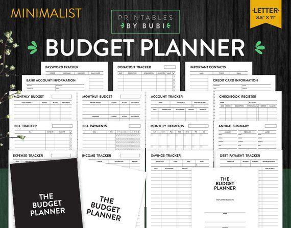budget planner financial planner finance planner budget printable
