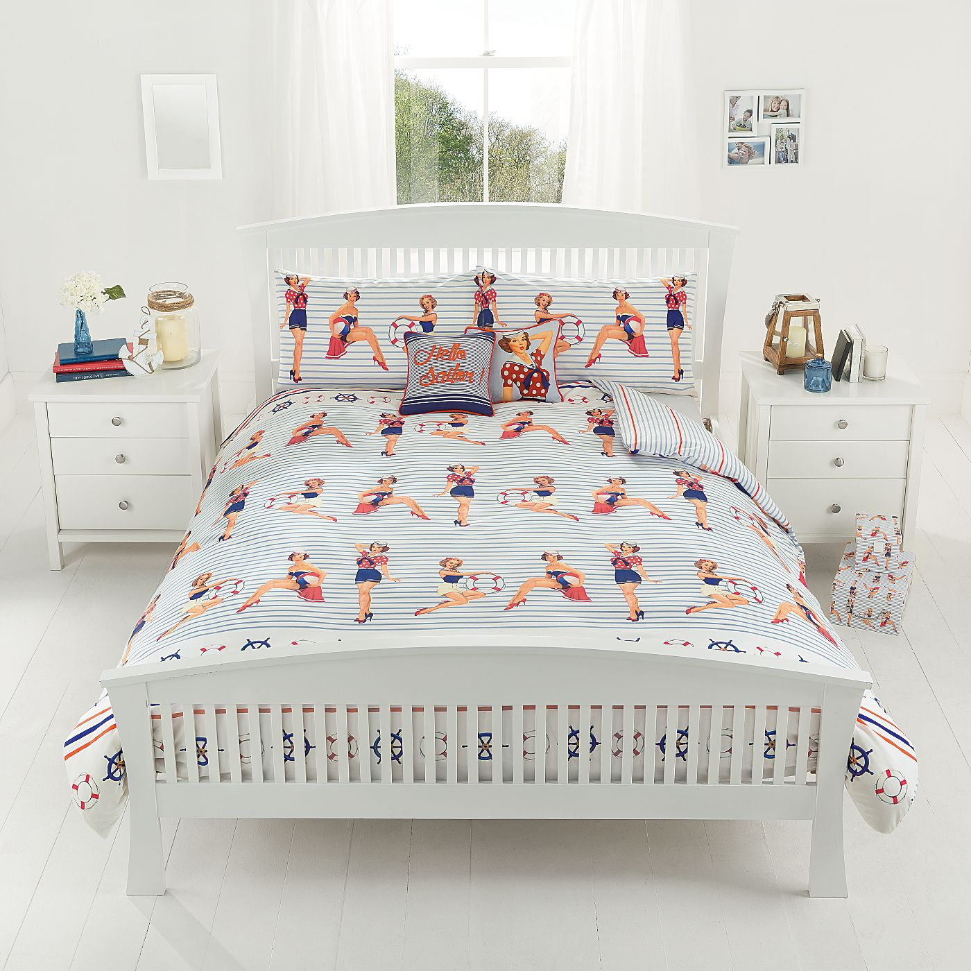 George Home Sailor Girl Pin Ups Duvet Range | Bedding | ASDA direct ...