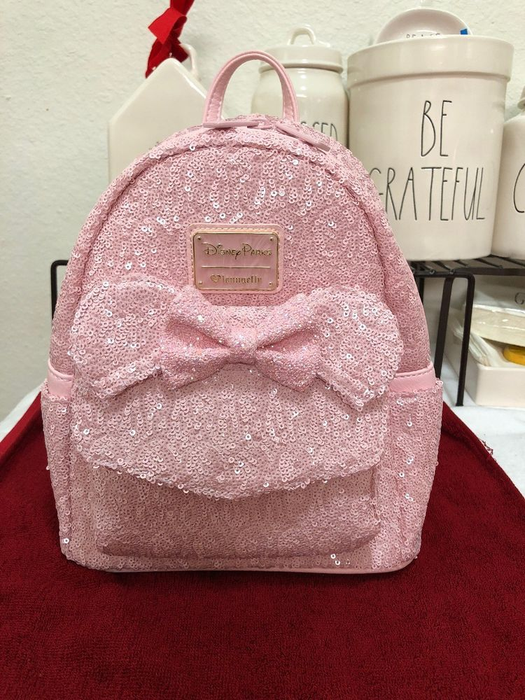 e11866c95d6 Disneyland millenial pink loungefly backpack WORLd OF DISNeY EXCLUSIVE  sequin  fashion  clothing  shoes  accessories  womensbagshandbags (ebay  link)