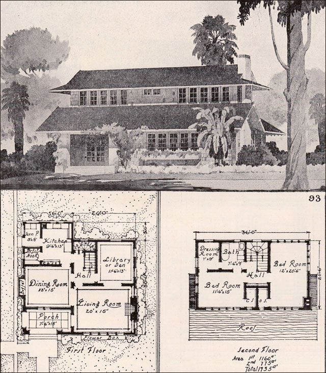 1916 Unusual Bungalow Ideal Homes in Garden munities American Residential Architecture