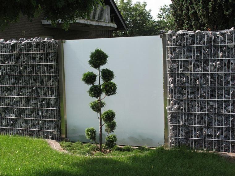 Clôtures de jardin en 59 idées captivantes | Grille, Pierre et ...
