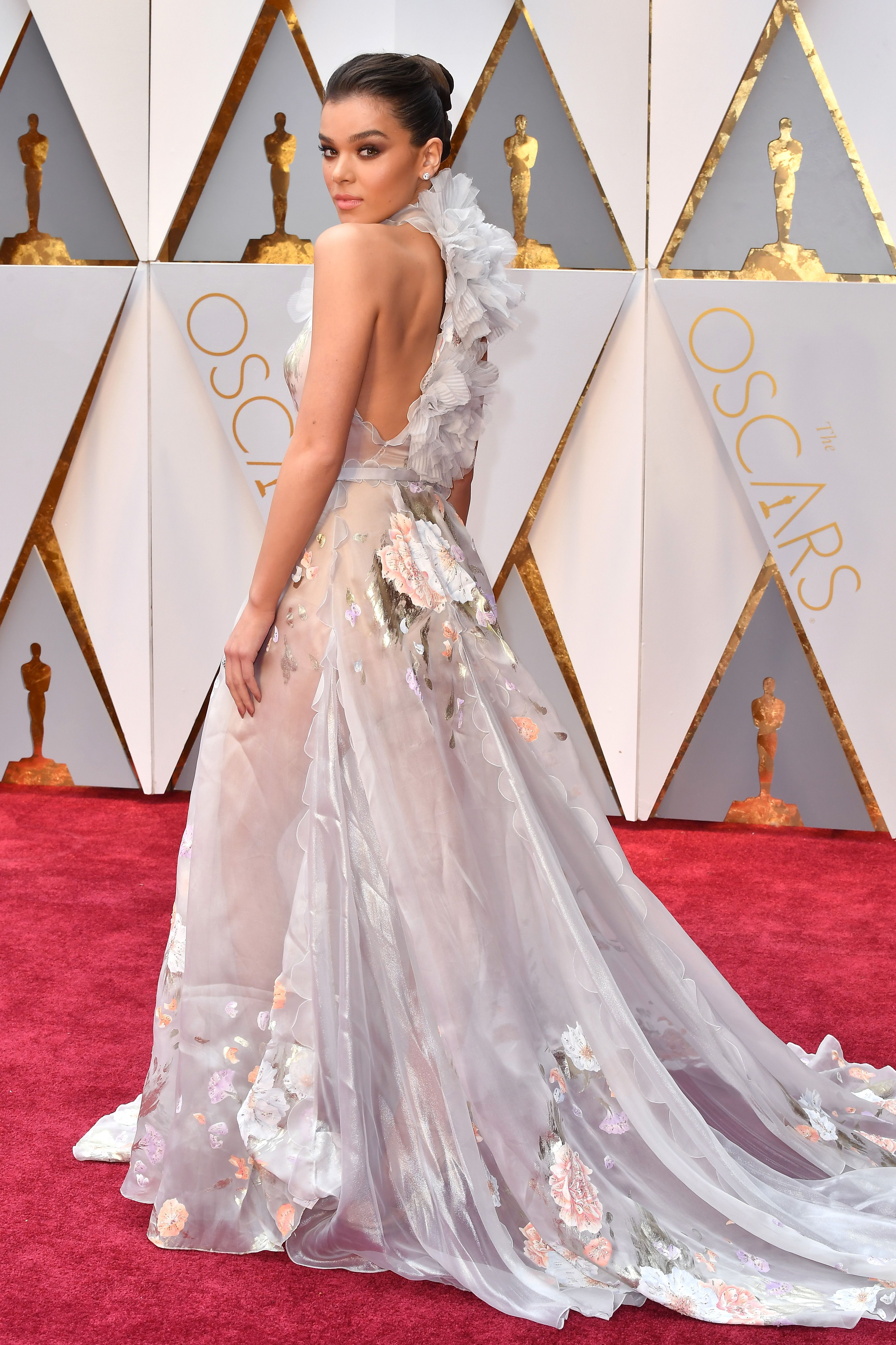 Hailee Steinfeld At The 2017 Oscars In Ralph Russo Couture Nice Dresses Red Carpet Oscars Red Carpet Dresses