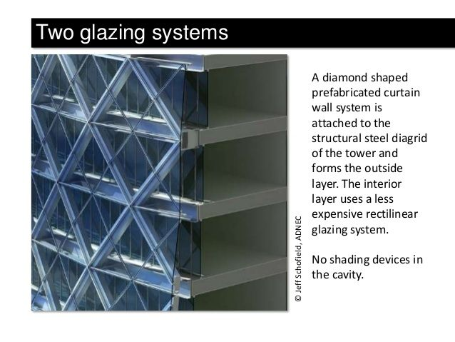 Jeff Schofield ADNEC Two Glazing Systems A Diamond Shaped Prefabricated Curtain Wall System Is Attached To The Structu