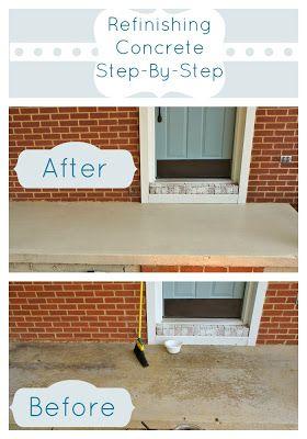refinishing a concrete patio concrete