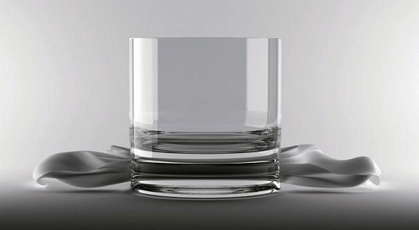 Glass With Hole for Napkin / Alvaro Lagos Vasquez