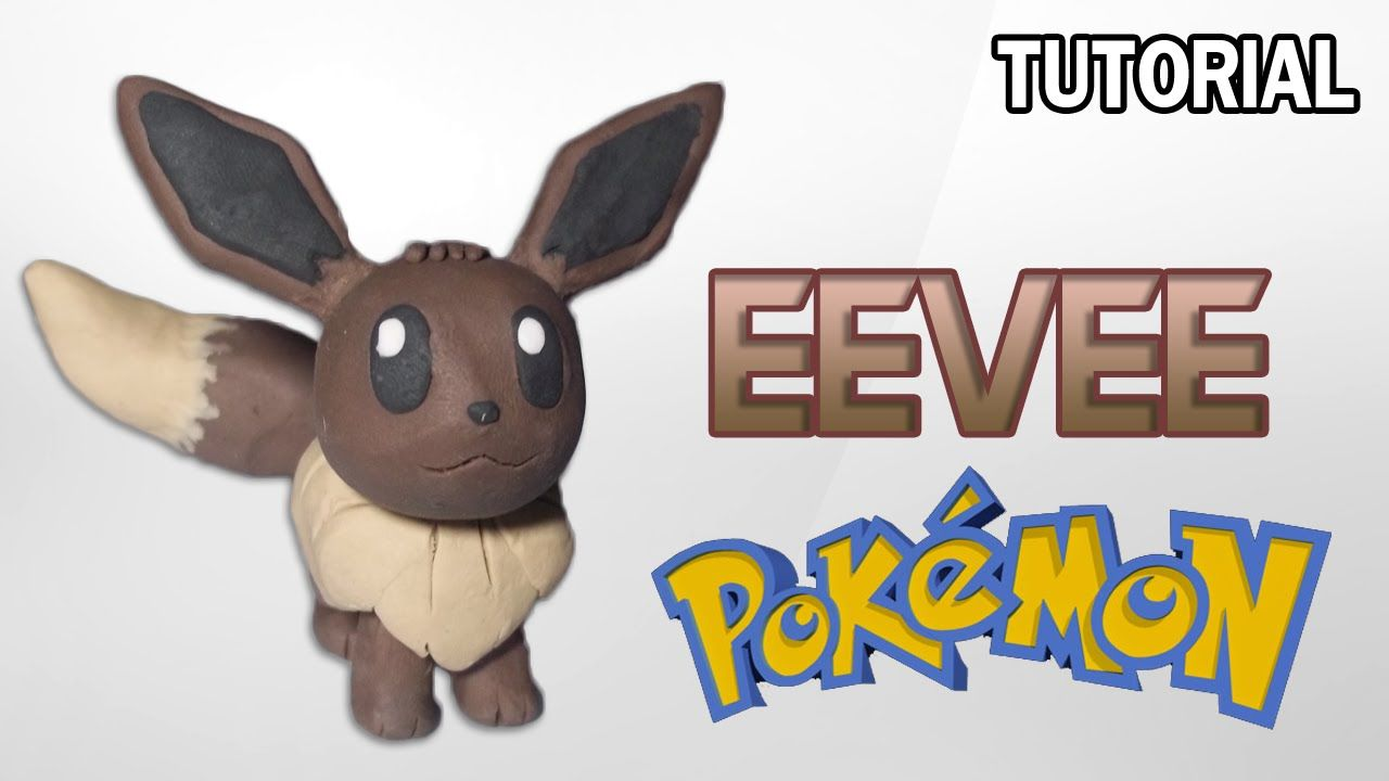 Tutorial Eevee en Plastilina | Pokemon | Eevee Clay Tutorial