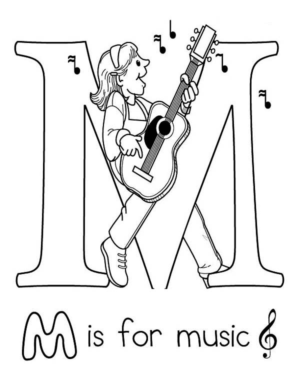 Letter M For Music Coloring Page Download Print Online Coloring Pages For Free Color Nimbus Music Coloring Music Coloring Sheets Christmas Music Coloring