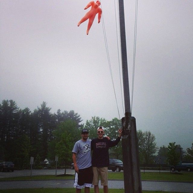 Took fatty patty to new heights. #tbt #seniorpranks @dukelev36