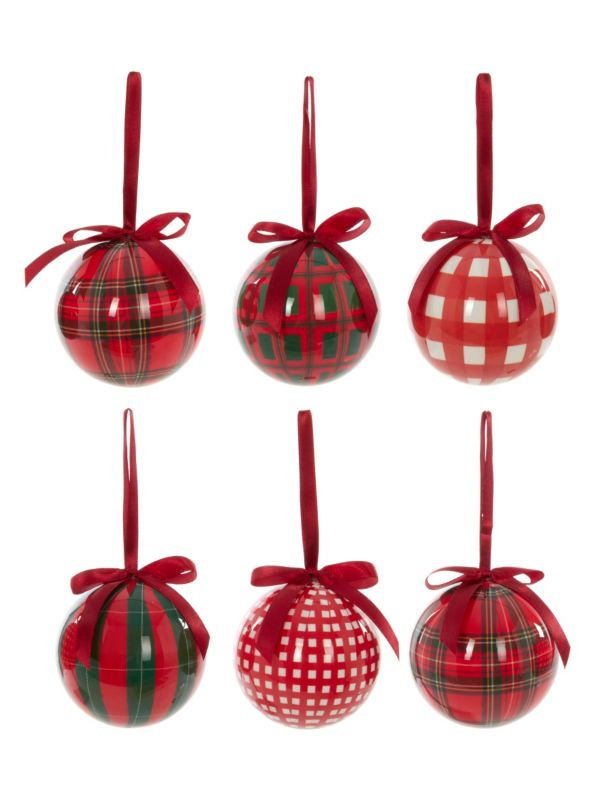 Tartan Decoupage Baubles 6 Pack Tree Decorations Asda Direct Christmas Crafts Christmas Ornaments Tree Decorations