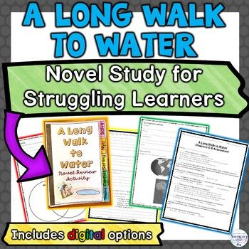 A Long Walk to Water Novel Unit Plan for Struggling ...
