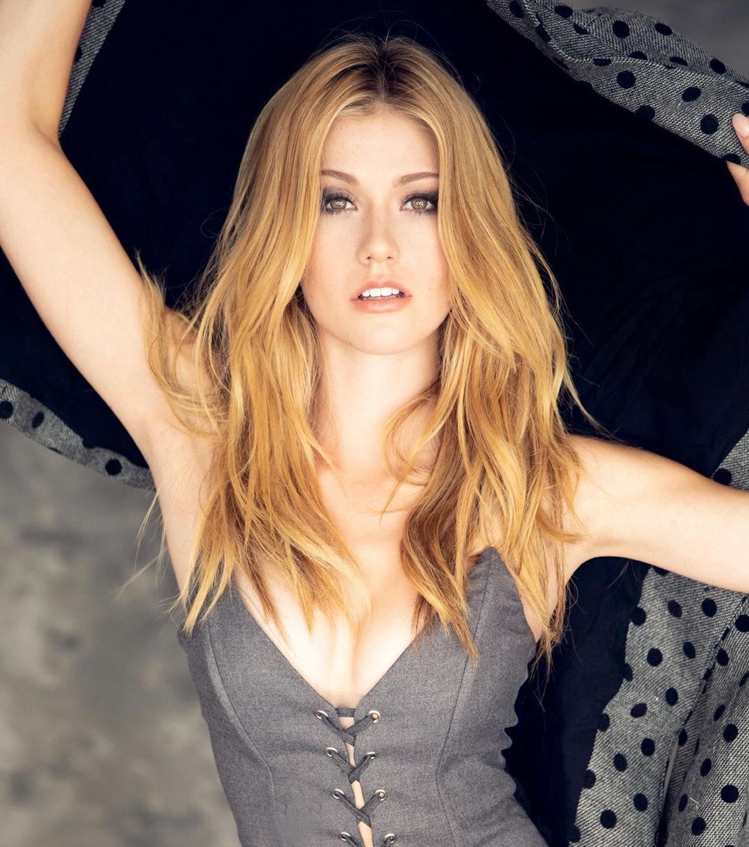 Katherine Mcnamara On Instagram I Polka Dots Katherine Mcnamara Beautiful Redhead Beautiful Blonde