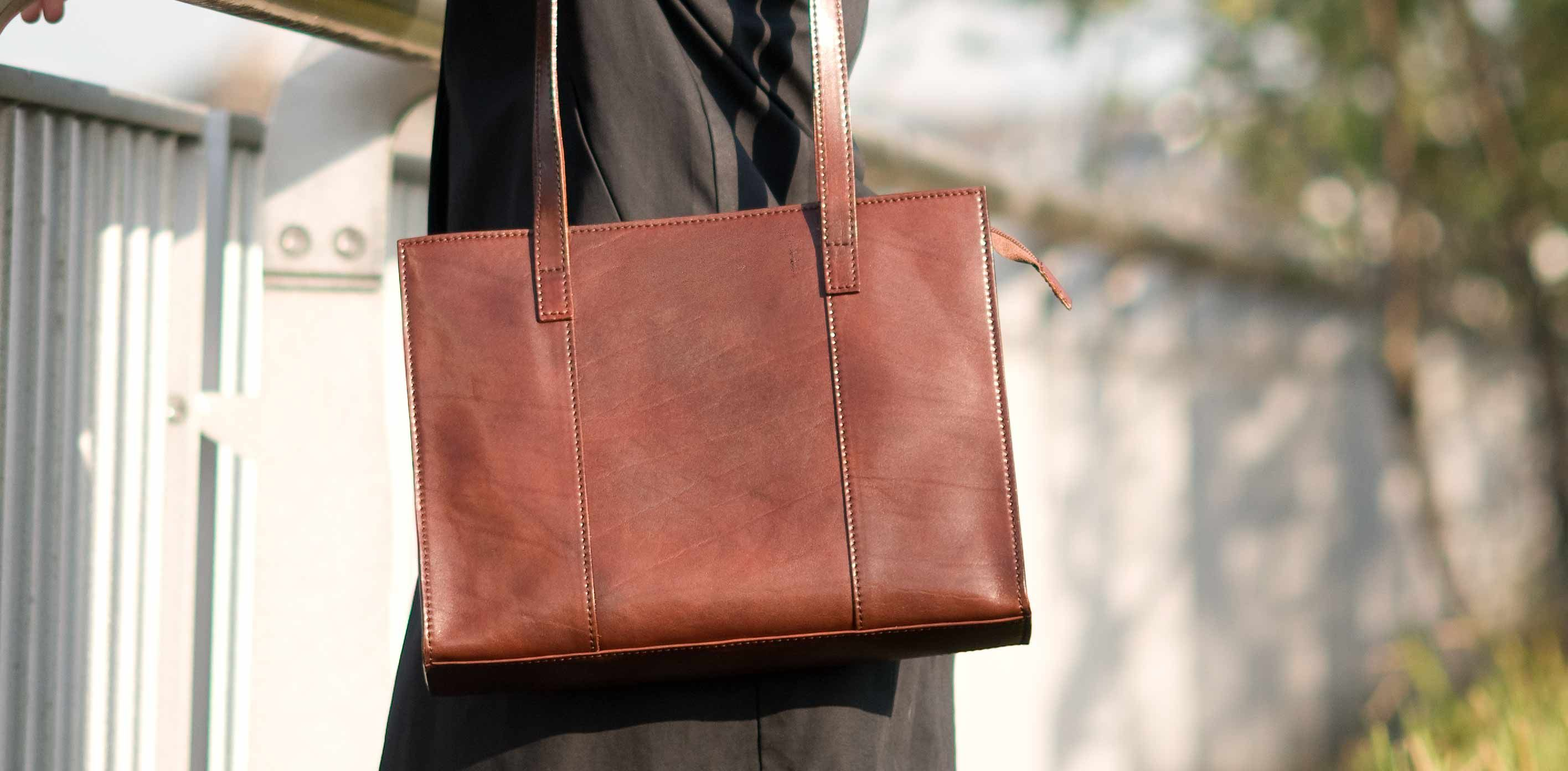 The Scala Las Italian Leather Work Bag