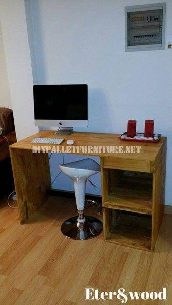 Table de bureau classique et simple avec des palettes   créer avec ...