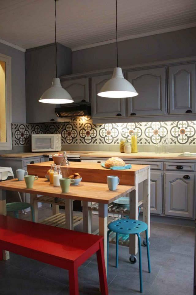 Carrelage cuisine   For the Home   Ilot cuisine, Cuisines ...