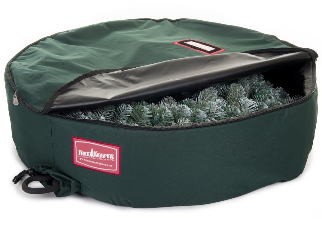 With this 48 Inch Christmas Wreath Storage Bag you can easily store and protect your holiday wreaths  sc 1 st  Pinterest & With this 48 Inch Christmas Wreath Storage Bag you can easily store ...