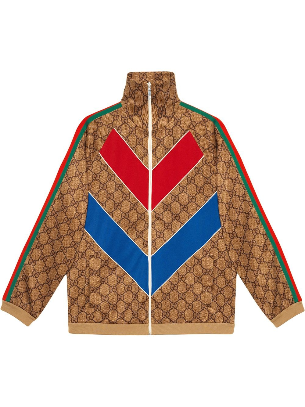 f807b86b7 Gucci GG technical jersey jacket - Brown in 2019 | Products ...