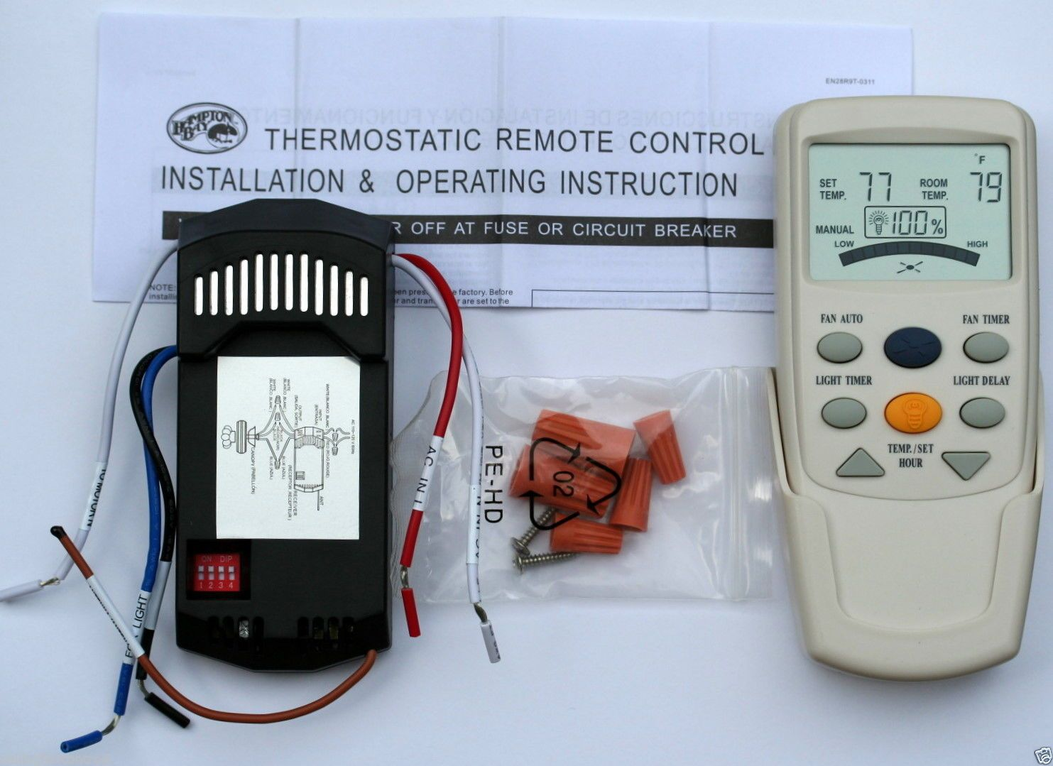Lighting Parts And Accessories 20705 Hampton Bay Ceiling Fan Lcd Circuit Breaker Timer Ebay Thermostatic Remote Control