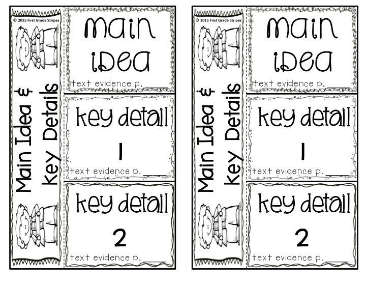 Main Topic/Idea & Key Details Graphic Organizers, Anchor
