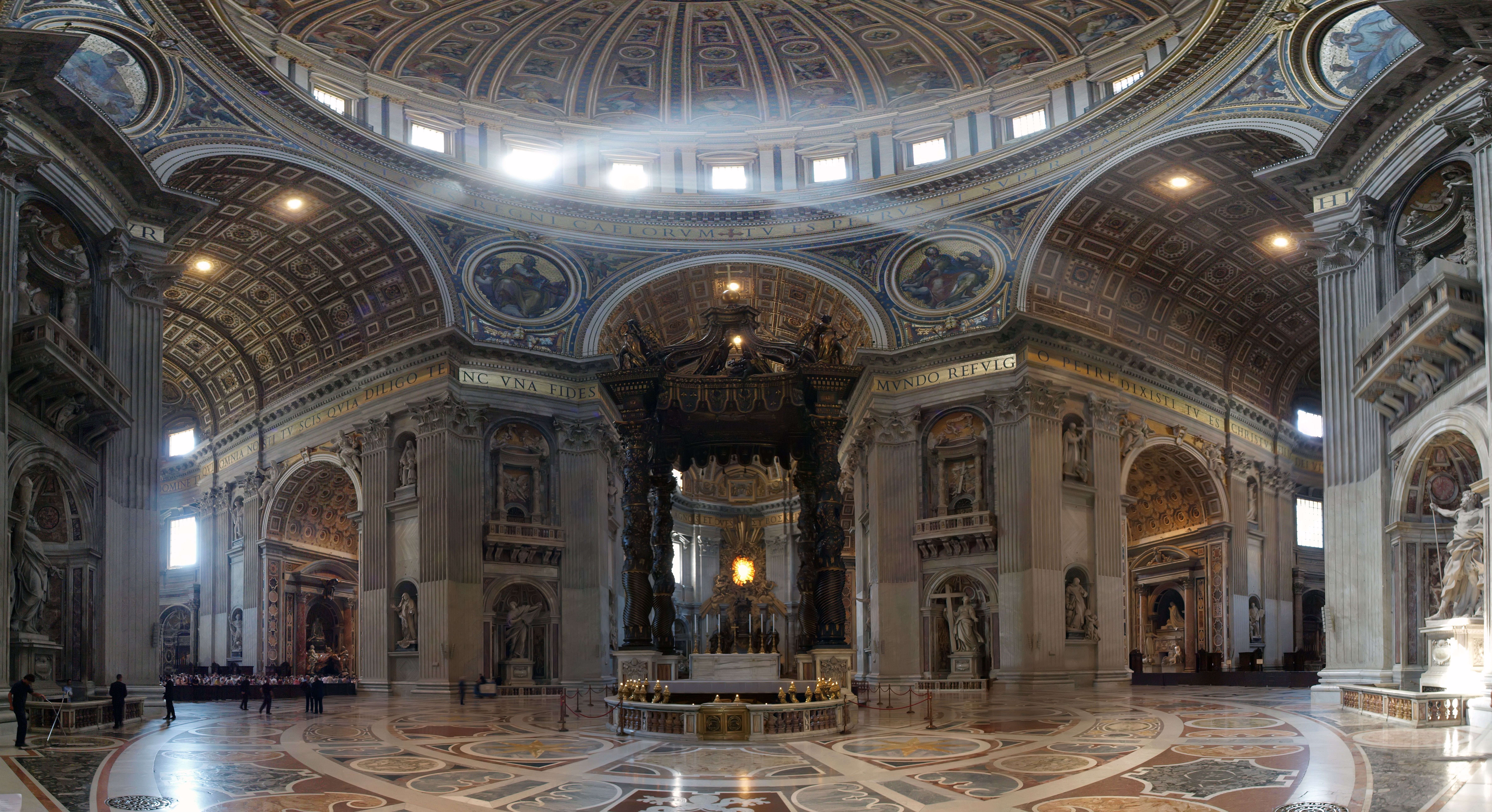The Vatican (shown Vatican Altar designed by Bernini