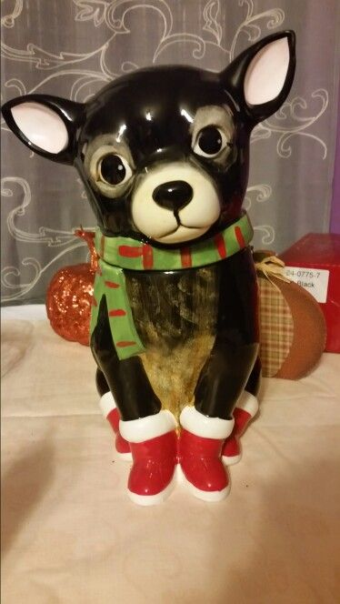 Chihuahua Cookie Jar Prepossessing Chihuahua Christmas Cookie Jar  Christmas  Pinterest  Christmas Design Ideas