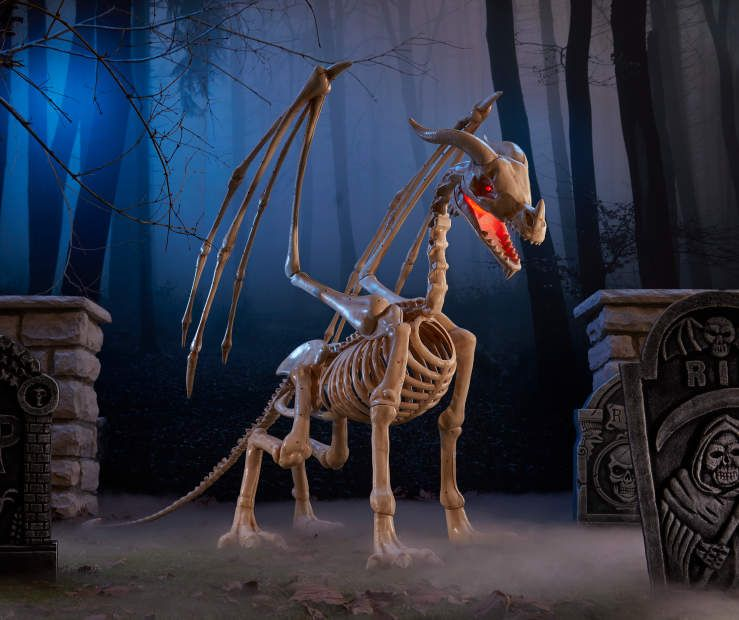 Dragon Halloween Decorations.Animated Skeleton Dragon 80 Dragon Halloween Halloween Props Halloween Party Supplies