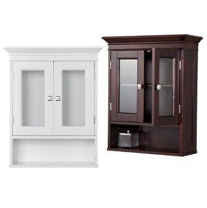 Add Cabinet Space To Bathfoom Espresso Fieldcrest Wall Cabinet Bathroom Furniture Storage Wall Cabinet