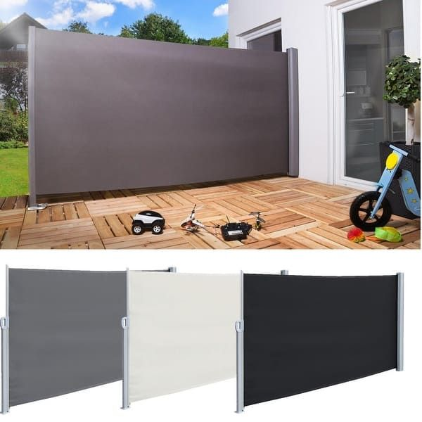 Real 5 9 X 9 8 Sunshade Retractable Side Awning Outdoor