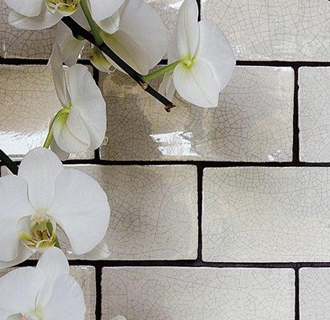 From Our Marlborough Range Stunning Crackle Glaze With Black Grout Www Highamstoneandtile Co Uk Wall Tiles Crackle Tile Artisan Tiles