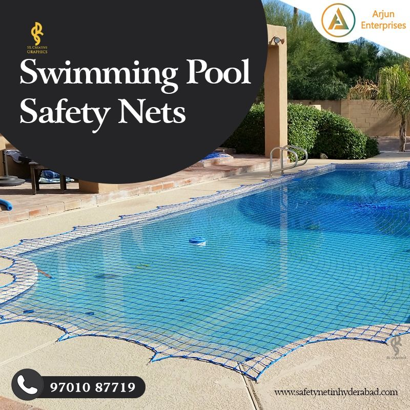 Swimming Pool Safety Nets Creative Ad In 2020 Pool Safety Pool Safety Net Swimming Pool Safety