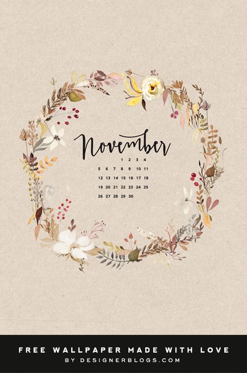 Free November Wallpaper Designer Blogs Calendar Wallpaper Iphone Wallpaper November November Wallpaper