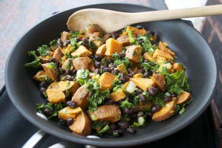 Sweet Potato Black Bean Hash