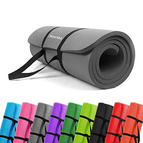 cb11fd4a0 PROMIC All-Purpose 1 2 inches Extra Thick 72 inches Long High Density Anti-Tear  Non-Slip Exercise Mat