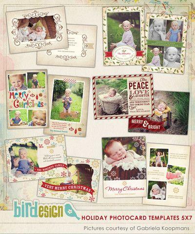 Holiday Photocards Bundle | Vintage Holidays