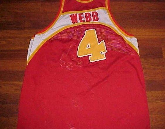 Spud Webb Atlanta Hawks 1986-87 Mitchell Ness Hardwood Classics Red Jersey d10021ed1