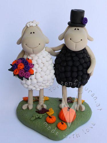 Schafs Brautpaar Tier Brautpaare Hochzeitstortenfiguren Fur Die