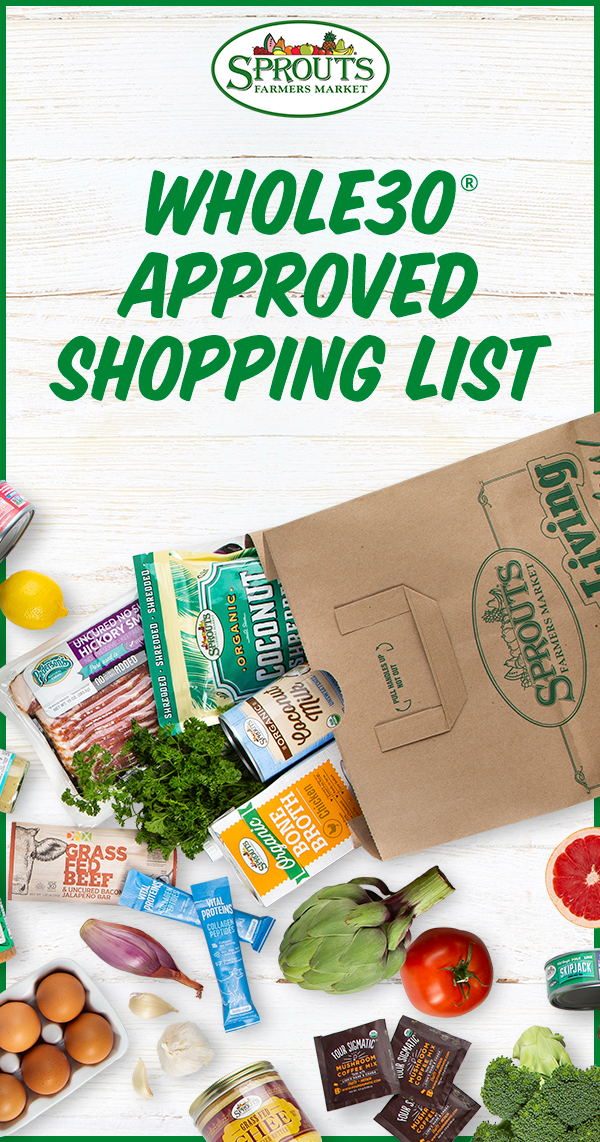 Sprouts Whole30 Approved Shopping List Sprouts Farmers Market Sprouts Whole 30