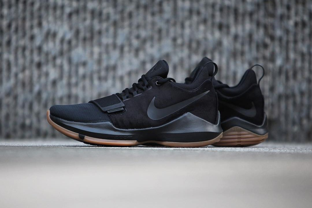 Paul George's Nike PG1 Goes All-Black With Gum Details