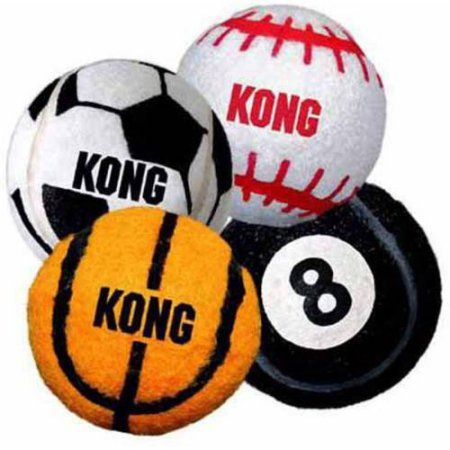 Kong 3-Pack Sport Balls Dog Toy, Small, Assorted, Multicolor