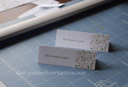 DIY Place Cards: Step by step How-To's for creating your own