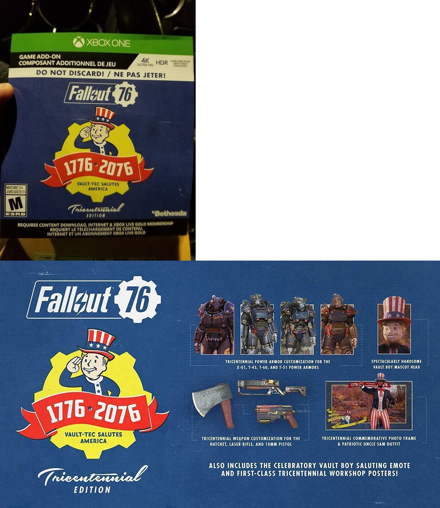 Prepaid Gaming Cards 156597: Fallout 76 Tricentennial Edition Xbox