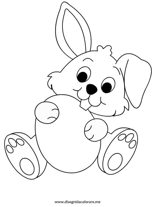 Rabbit Coloring Page Scuola Easter Colouring Easter Bunny