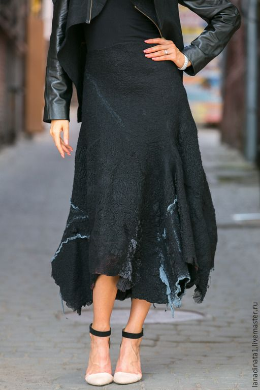 Photo of Buy The skirt is long, nunofelting, felting, o …