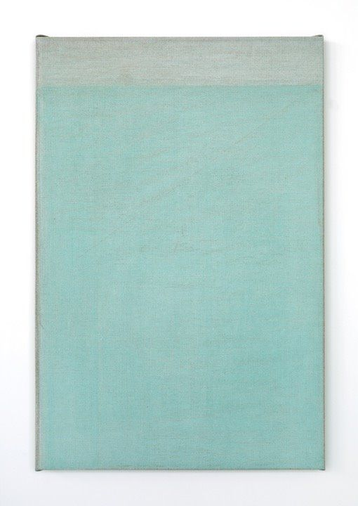 John Zurier, Seydisfjordur (Fog), 2016, Distemper on linen, 76.2 × 50.8 cm (30 × 20 in)