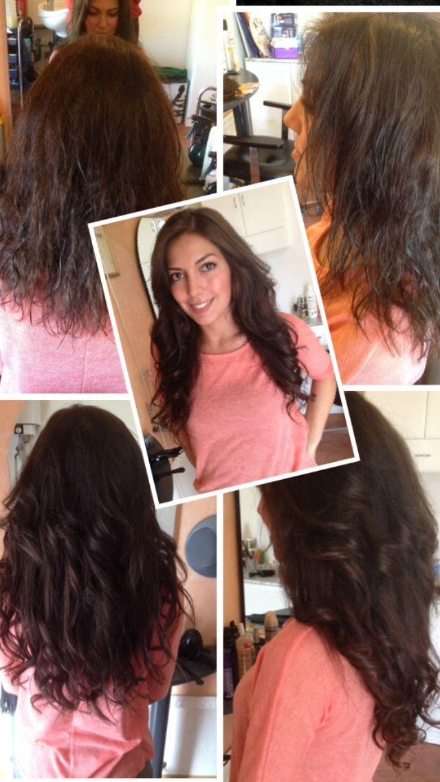 Haarverlängerung mit europäischem Schnitthaar.