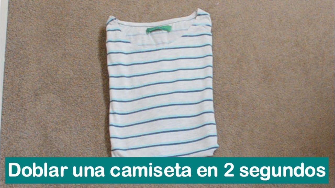 Cómo Doblar Una Camiseta En 2 Segundos Camisetas Doblar Camiseta