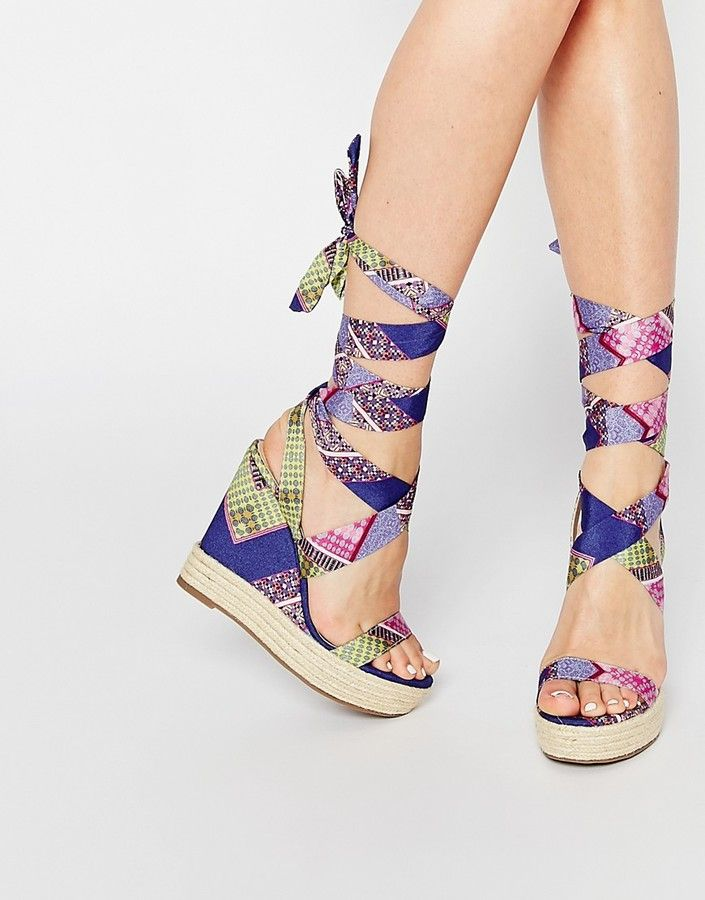 ASOS COLLECTION ASOS TORNADO Lace Up Wedges