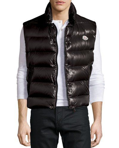 1418d6cce29 N3X9N Moncler Tib Shiny Puffer Vest, Black | Vests in 2019 | Puffer ...