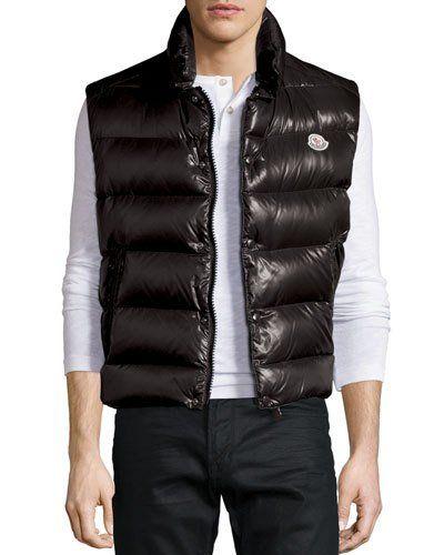 d11b63d82711cf N3X9N Moncler Tib Shiny Puffer Vest, Black | Vests in 2019 | Puffer ...