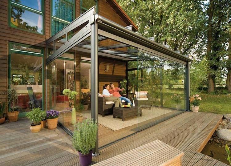 faites un toit en verre pour votre terrasse moderne pergola pinterest veranda maison et. Black Bedroom Furniture Sets. Home Design Ideas